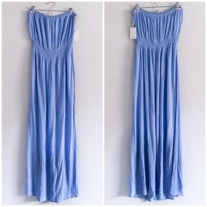 Forever 21 Periwinkle Strapless Maxi Dress